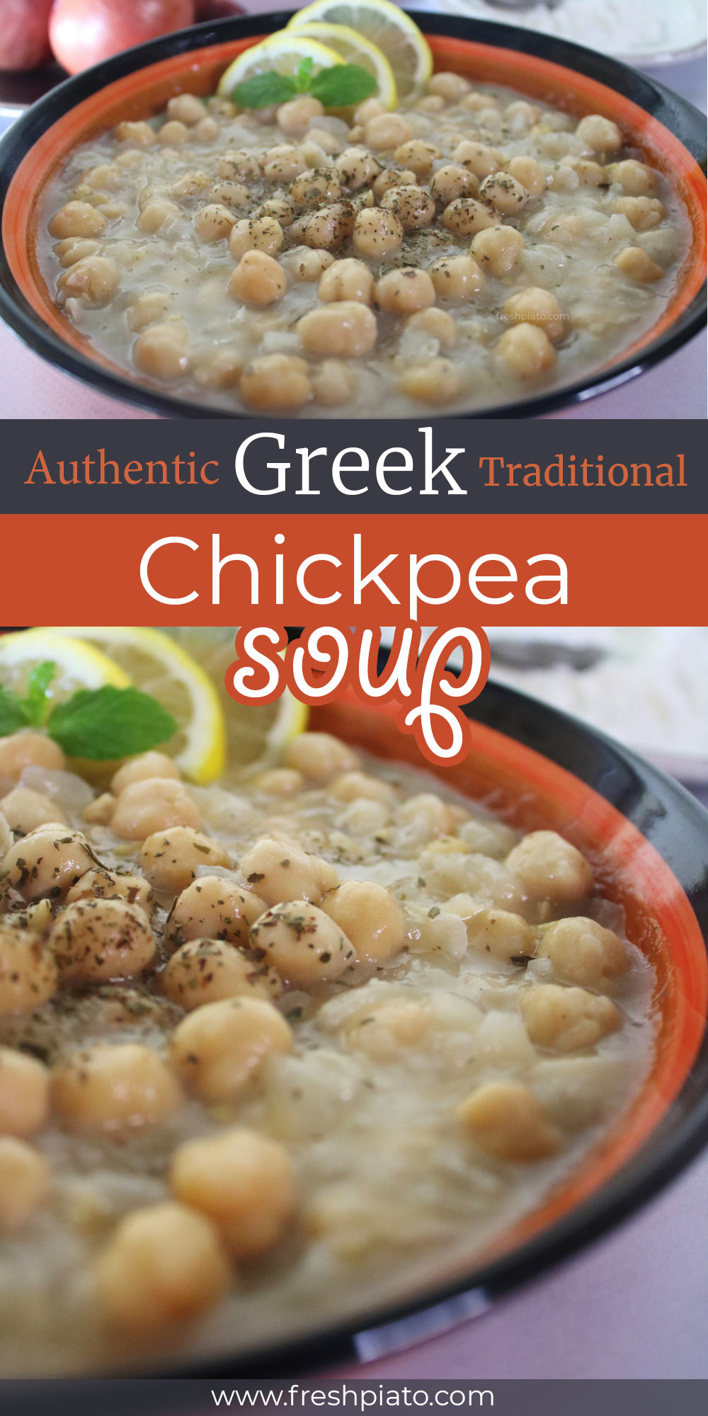 Chickpea soup recipe pin