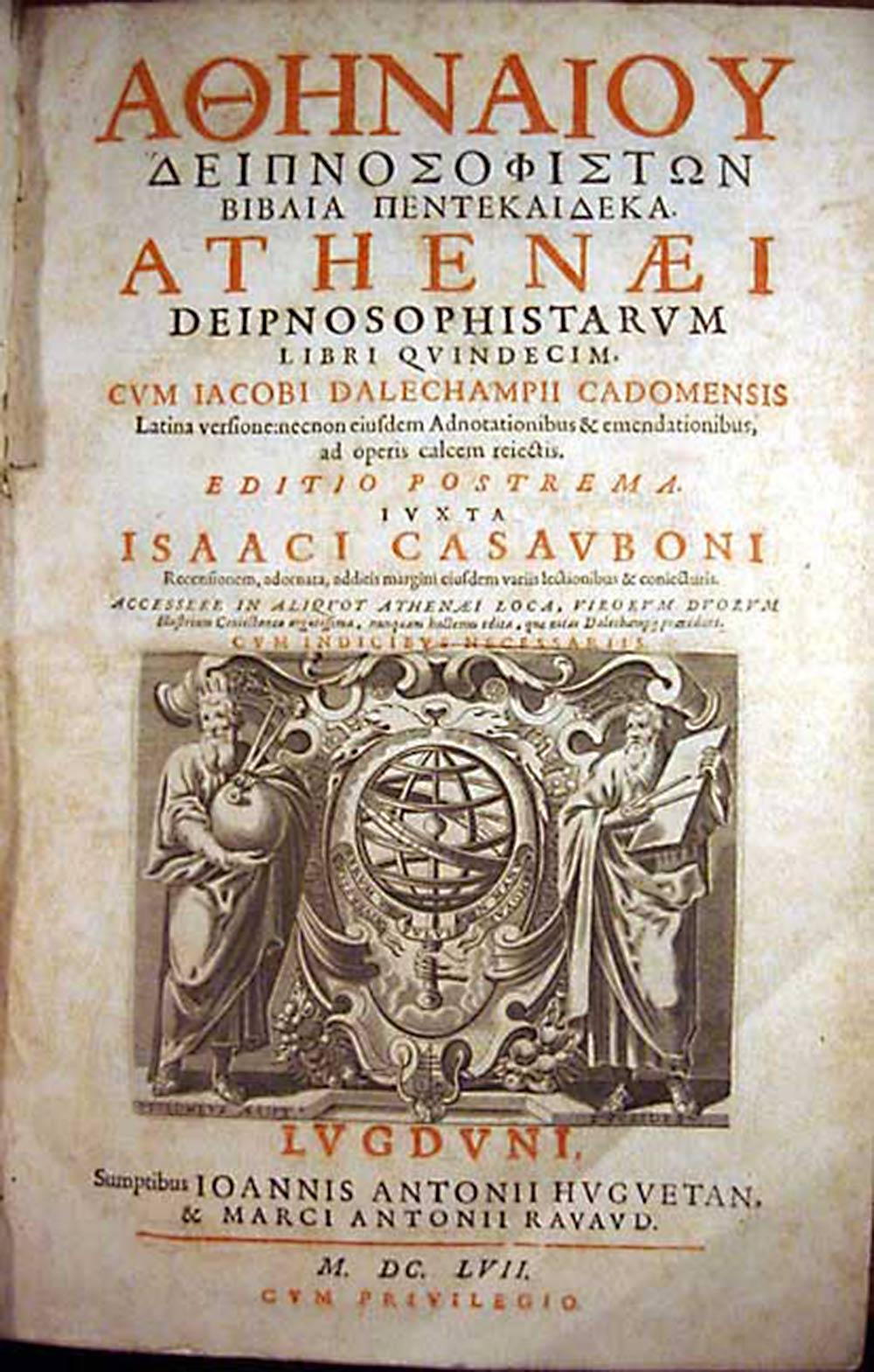 Greek old cookbook Dipnosophistai