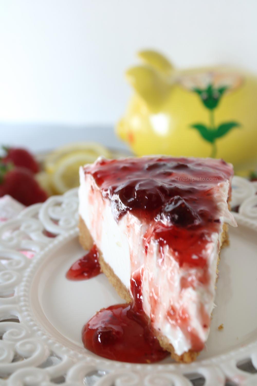 Strawberry cheesecake Greek style