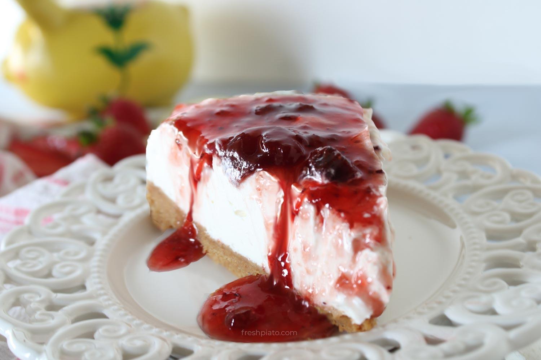 Cheesecake greek style