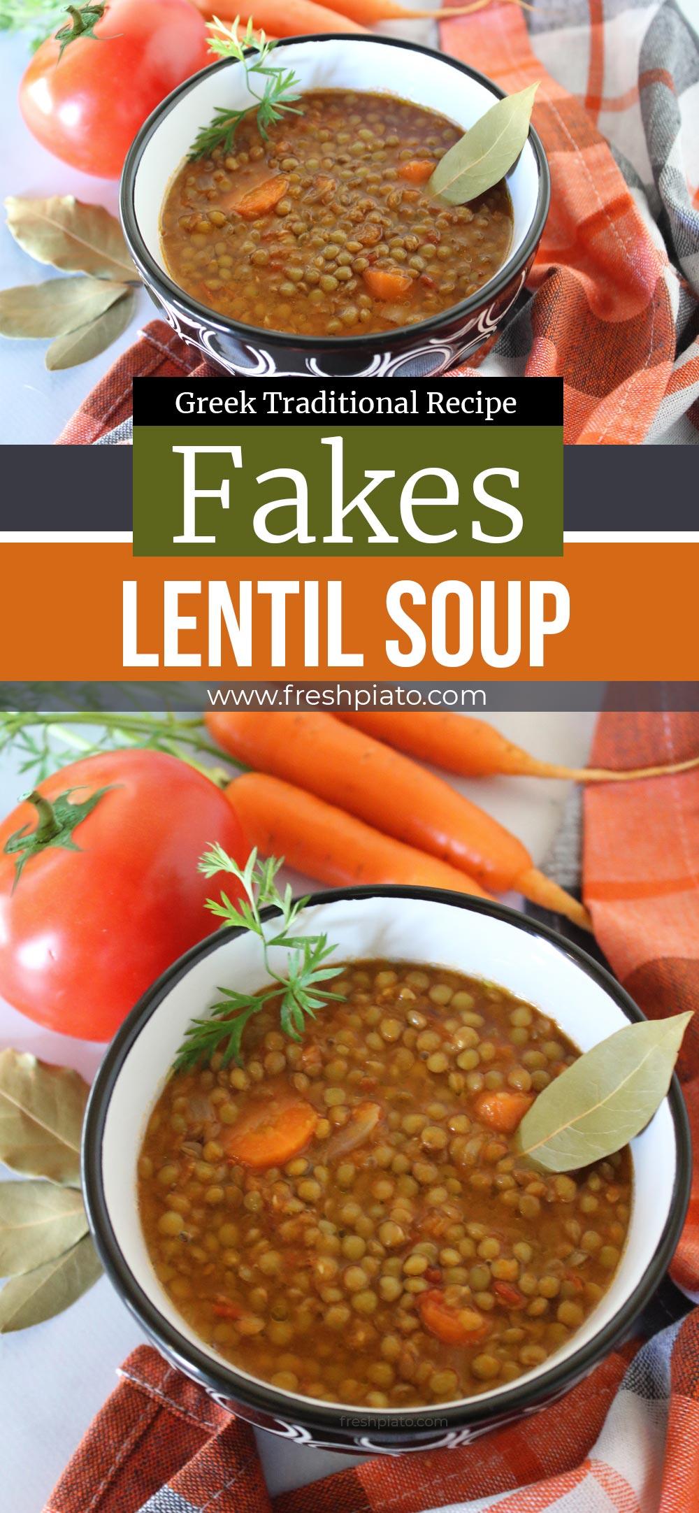 fakes soup lentil soup pin
