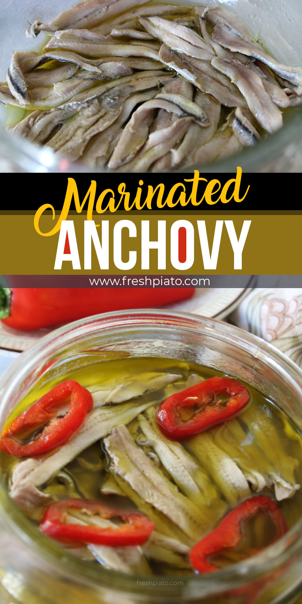 Marinated anchovy pinterest image