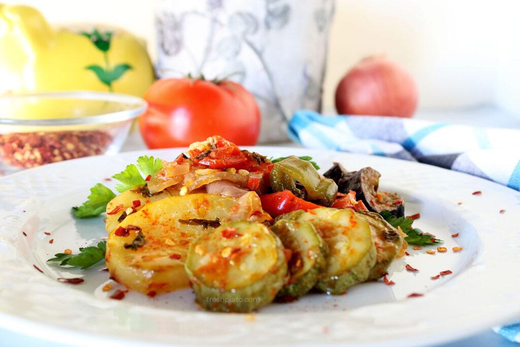 Briam, ratatouille roasted vegetables recipe