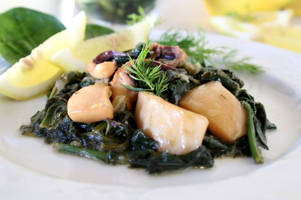 cuttlefish and spinach recipe
