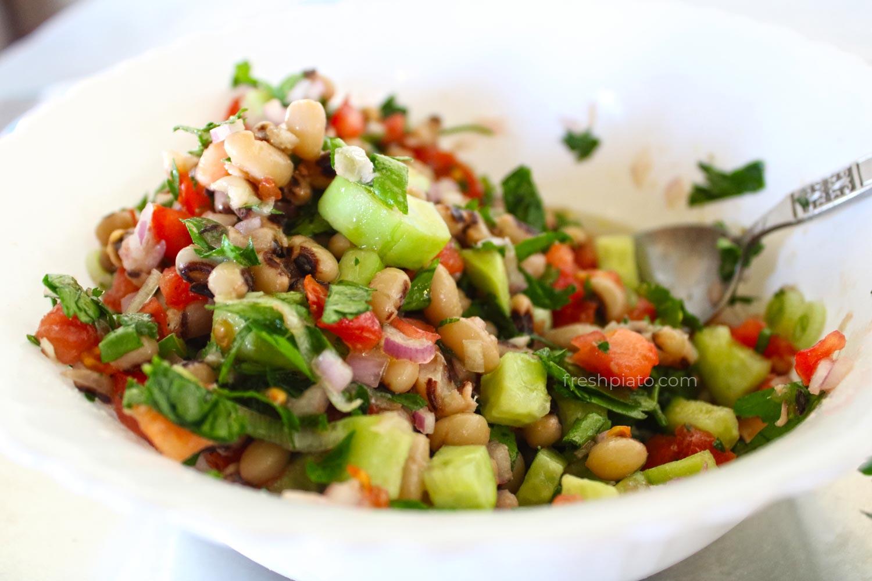 Black eyed peas salad1