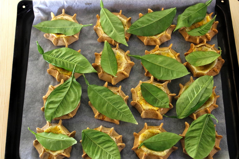 Kalitsounia in a baking tray