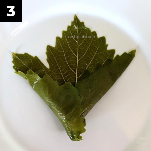 How to wrap grape leaves step 3