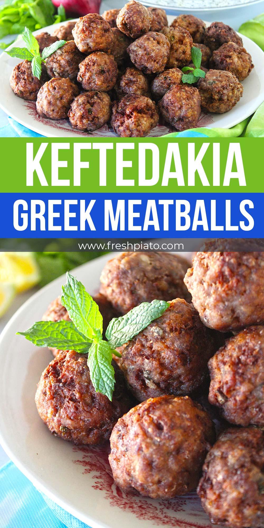 keftedakia greek meatballs recipe