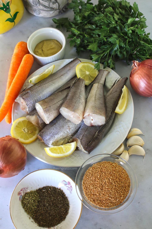 υλικά για ψαροκροκέτες