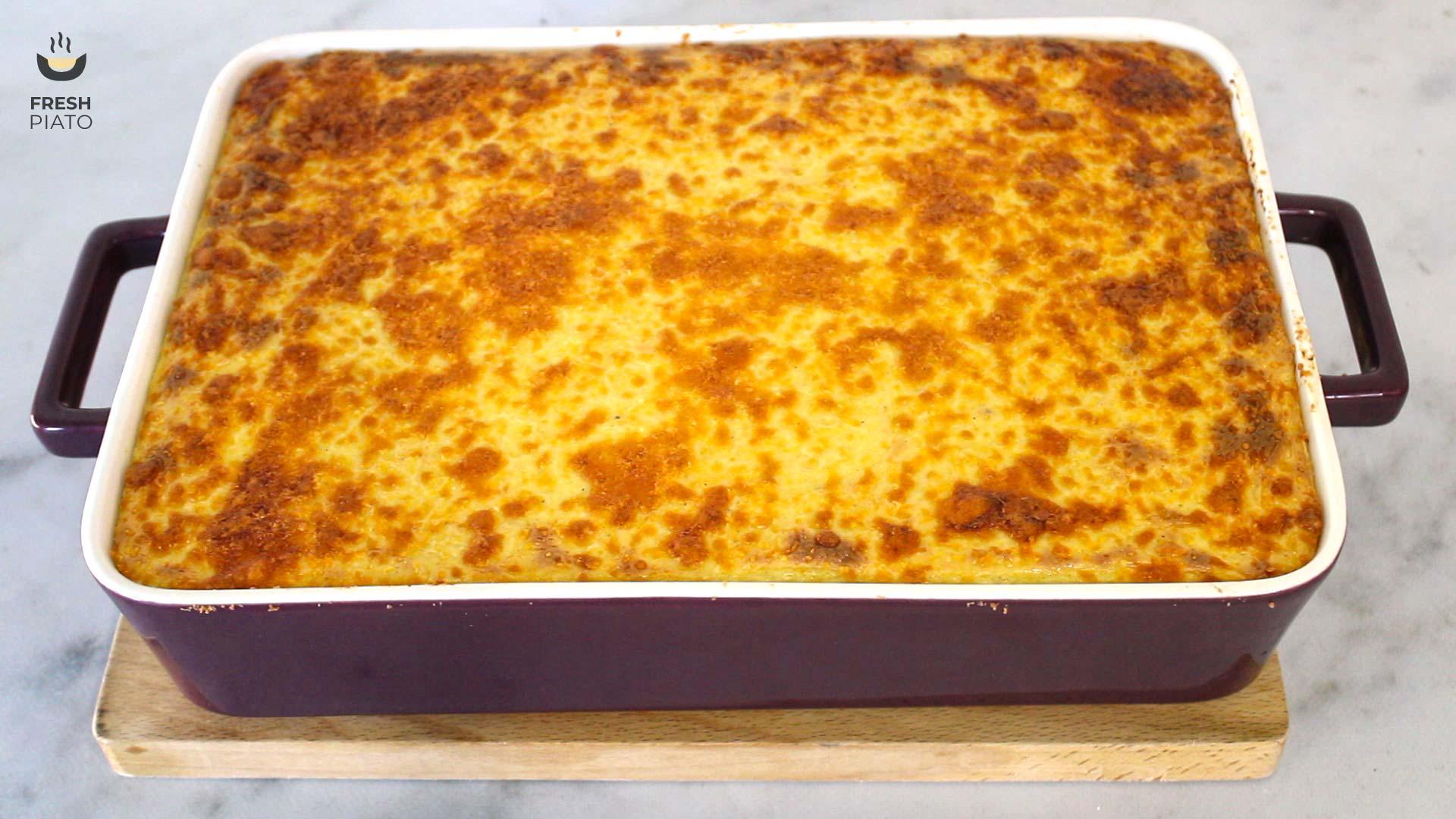 Pastitsio cooked