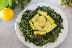 vlita salad recipe, amaranth greens or pigweed salad