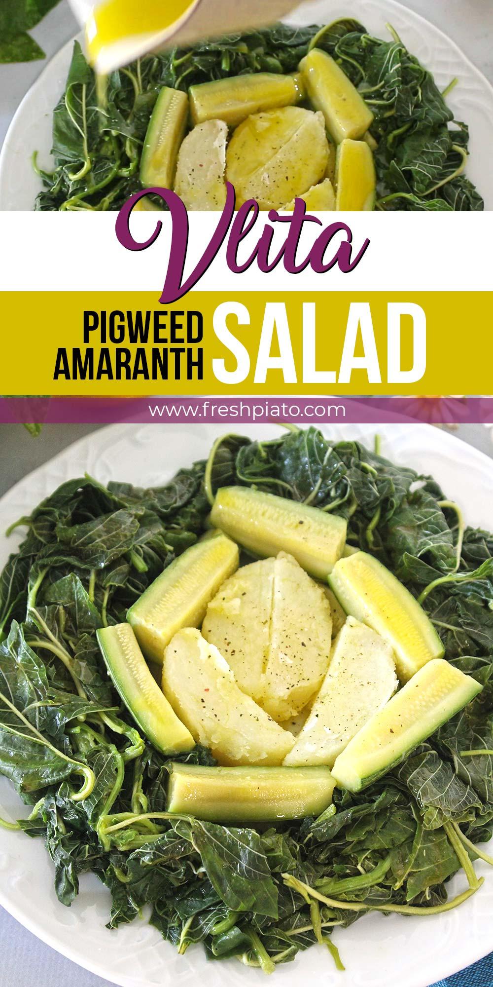 vlita, amaranth, pigweed salad recipe